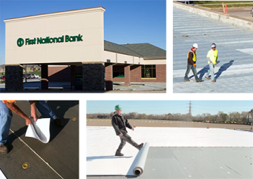 Commercial roof collage