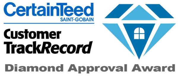Certainteed Customer Track Record Award logo