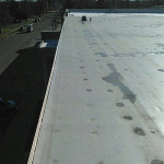 Flat roof at Lexington Middle School