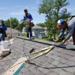 Nailing Habitat roof ridge