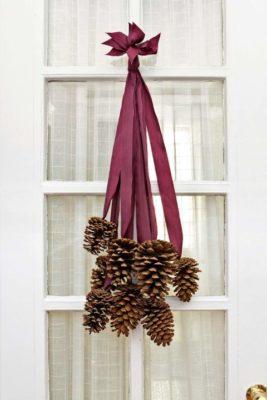 Pinecone hanging