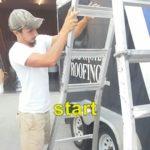 Gutter crew beginning work