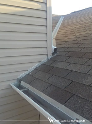 Poorly designed downspout