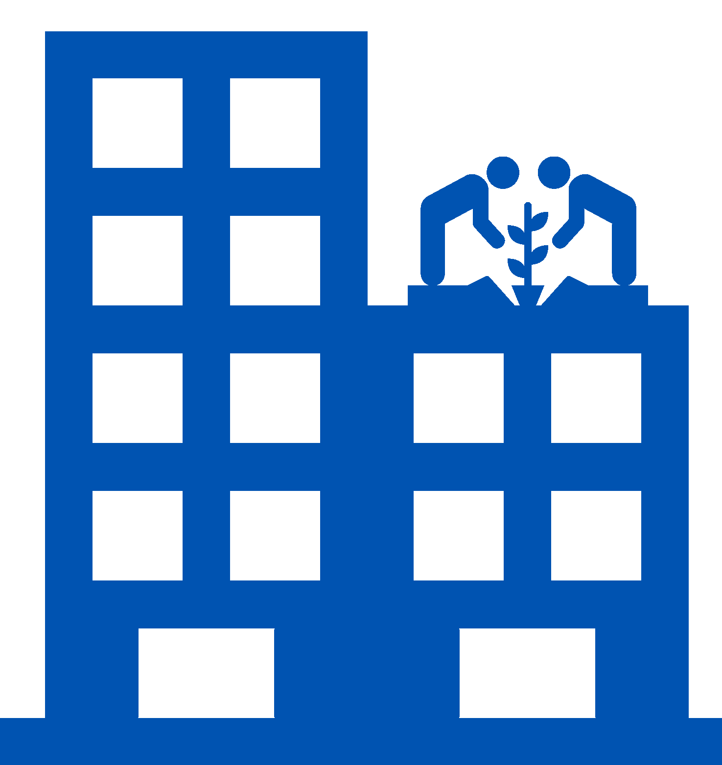 Roof garden icon