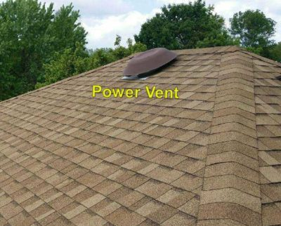 Power vent on roof