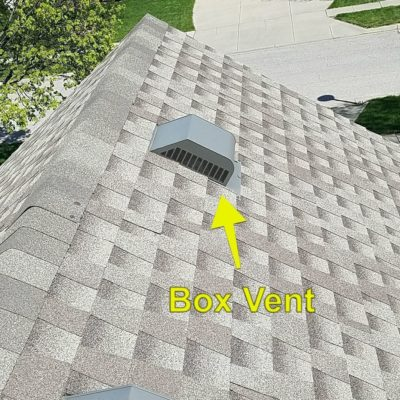 Box vent on a roof